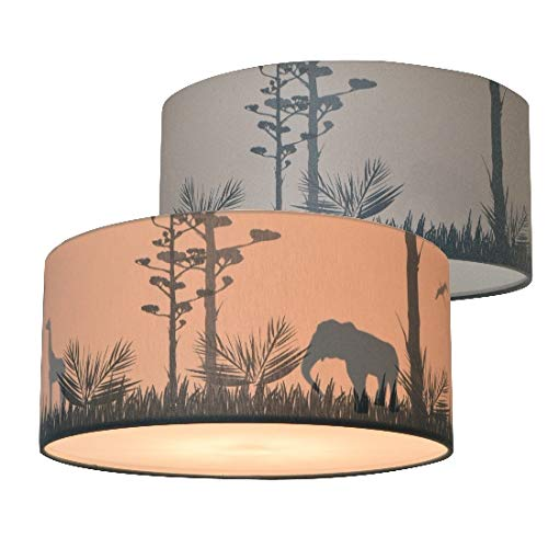 Plafondlamp Kinderkamer Safari Silhouet | Schaduwlamp Jongenskamer Land of Kids