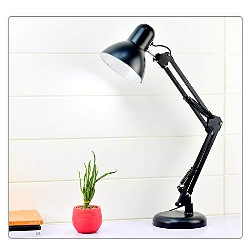Luz Mesita de Noche Columpio mesa de metal de la lámpara de escritorio del brazo de la lámpara, intercambiable base o abrazadera ajustable Brazo Eye-El cuidado de la lámpara de lectura del dormitorio