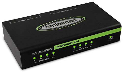 M-Audio MidiSport 4x4 - Interfaccia USB MIDI 4-In/4-Out Plug-and-Play con alimentazione USB per Mac e PC