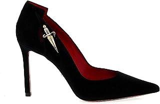 tienda de pescado para la venta Cesare Cesare Cesare Paciotti Mujer PAC101710 Negro Gamuza Zapatos  hasta 60% de descuento