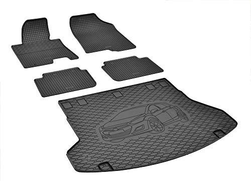Passgenaue Kofferraumwanne und Gummifußmatten geeignet für Hyundai i30 SW 2012-2017