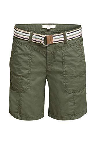 ESPRIT Damen 040EE1C343 Shorts, 350/KHAKI Green, 36