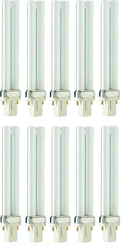 10x PHILIPS MASTER PL-S - G23 - 2 PIN - Energiesparlampe (7W/840 2Pin G23 - Neutralweiß)