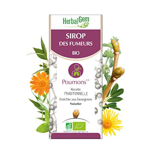 HerbalGem Sirop des Fumeurs Pour le bien-être respiratoire du fumeur Recette Traditionnelle Enrichies en Bourgeons Herbes et Plantes 150 ml