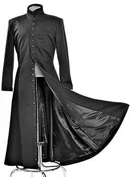 Neo Cosplay Costume Black Long Trench Coat  M
