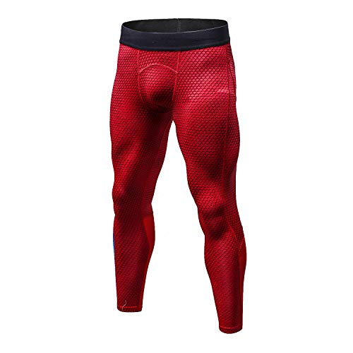 Bmeigo Herren Workout Leggings 3D Running Exercise Tight Bodybuilding Sport Hose