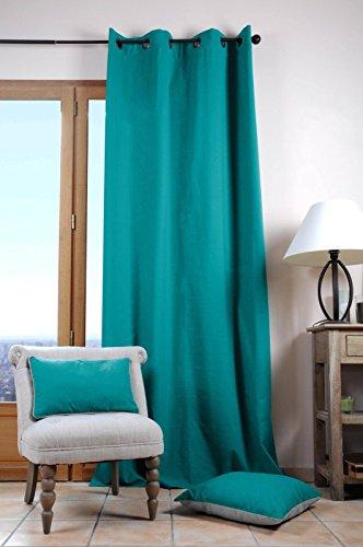 Lovely Casa Duo UNI Rideau 135X240 CM, Coton, Celadon, 135 x 240 cm