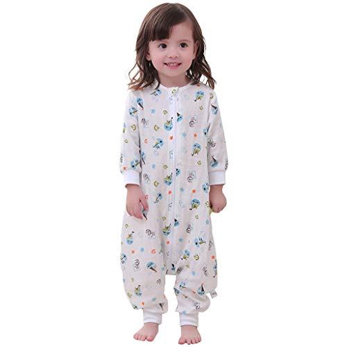 Bolsa de Dormir de Bebé 1.5 Tog Mangas Largas Sacos de Dormir para Bebé Niños Niñas, 3-5 Años