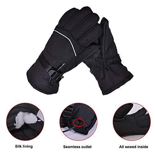 Jinclonder Verwarmde handschoenen, mannen en vrouwen in de open lucht wandelen skiën camping fietsen motorrijden warme winterhandschoenen, koud weer thermische handschoenen handwarmer