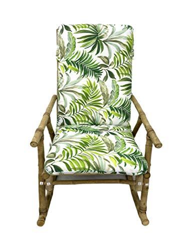 TIENDA EURASIA® Cojín para Tumbona de Jardín - Estampados Tropicales - Cojín Acolchado Relleno de Fibra - Medidas 120-180 x 50 x 10 cm - Ideal para tumbonas, sillas y hamacas. (Tropical 8, 180 cm)
