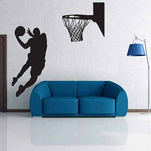 Wall Stickers Neue Angekommene Nba Slam Dunk Basketball Wandbild Removable Art Vinyl Wandtattoo Zimmer Dekorative Sport Tapetecm 158X60Cm