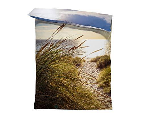 fotobar!style Bettbezug 135 x 200 cm Strandzugang zur Nordsee am Weststrand von Sylt
