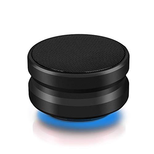 Tchin Altavoz Bluetooth Tarjeta inalámbrica portátil Hogar HD Mejora de Audio Bass Play Smart Speaker (Color : Black)