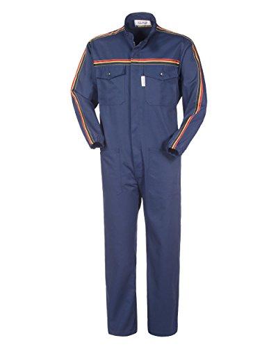 ROSSINI LANCELOT Tuta da Lavoro X Officina Collo Coreana Blu Gabardine Meccanico A41507 (M)