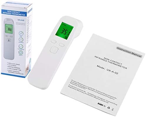 UX-A-02 Termómetro infrarrojo sin Contacto Termómetro infrarrojo portátil (Blanco)