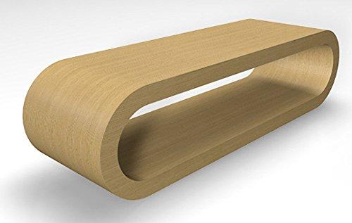 Zespoke Design Rétro de Cercle de Style Grande Table/Meuble TV Basse en Chêne Naturel Largeur de 110cm