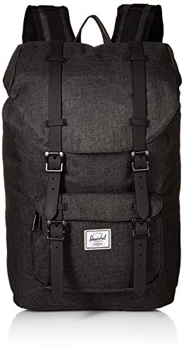 Mochila Herschel Little America Mid-Volume Black Crosshatch/Black