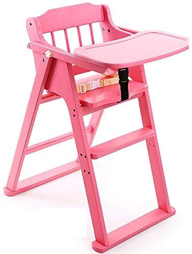 Baby high Chair Feeding Chair Comfortable Foldable high Chair Foldable Height Adjustable Reclining Position Walnut Color,B