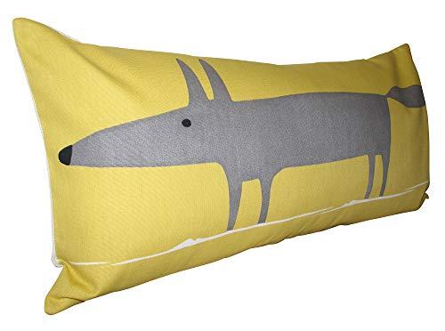 Scion Mr Fox Sunflower Yellow Bolster Cushion Cover