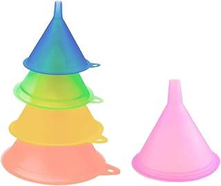 Entonnoir Plastique,5 PCS Entonnoirs Plastique Antonoire Mini Entonnoirs Petite Bouteille Entonnoir pour Cuisson Remplissa...