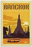 APAZSH Cuadros Decoracion Poster de Viaje de Bangkok, Tailandia, póster, Pintura Decorativa, Lienzo, Arte de Pared, Carteles, Pintura 40x60cm x1 Sin Marco