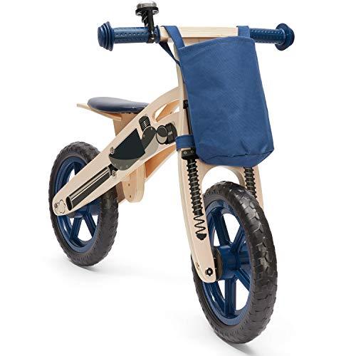 wuuhoo® I Laufrad Speedy aus Holz für Mädchen und Jungen ab 2 Jahre I aus Massiv-Holz Beige mit Transport-Tasche I mitwachsend ergonomisch I 12 Zoll Lauflernrad für Kinder höhenverstellbar, flexibel