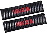 ZHNGG 2 Piezas Coche Almohadillas CinturóN De Seguridad para Ibiza, Fibra De Carbono Seat Belt Padding Shoulder Protectora Pad, Auto Accesorios