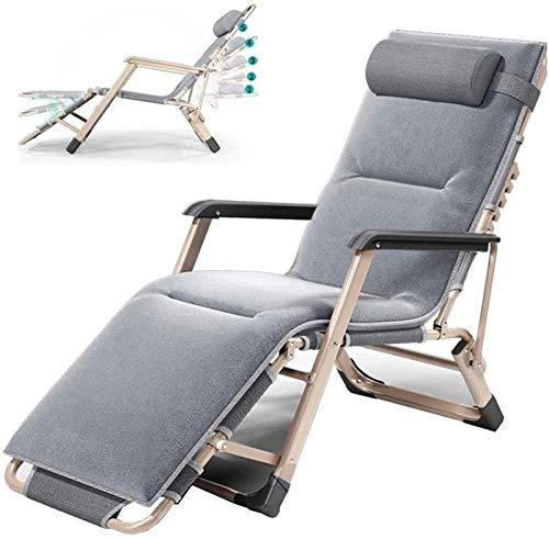 HTTIB Home Tumbonas reclinables plegables para muebles de jardín al aire libre, terraza, balcón, respaldo ajustable de aluminio, 5 posiciones, acolchado acolchado resistente a la intemperie (color: A)