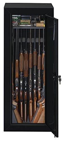 Stack-On GCB-1522 Steel 22-Gun Security Gun Cabinet with Foam Barrel Rests, Black
