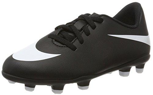 Nike JR Bravata II FG, Botas de Fútbol Niños, Negro (Black/White/Black), 38.5 EU