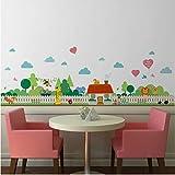 lanlanhone-127 Land Gartenzaun Höhe Maßnahme Wandaufkleber Für Kinderzimmer Schlafzimmer Garten Wandtattoo Poster