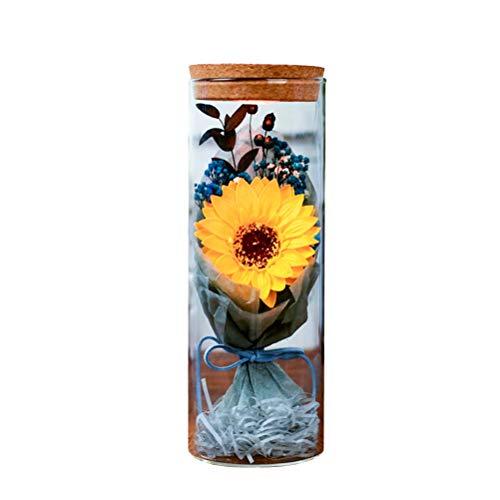 PRETYZOOM - Botella de jabón luminoso con diseño de flores (girasol amarillo)