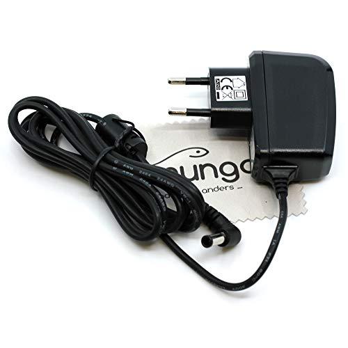 Ladegerät passend für Makita BaustellenradioBMR104, BMR104D, BMR104W, BMR105, DMR102, DMR105, DMR107, DMR108 Ladekabel Kabel Netzladegerät OTB mit mungoo Displayputztuch