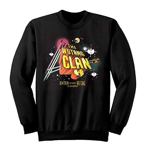 Wu-Tang Clan Gods of Rap-Tour Herren Crewneck Sweatshirt Schwarz XL   S-XXL, Musik-Band Merch Hip Hop Geschenke, Adult T-Shirt, Geburtstag Geschenk-Idee