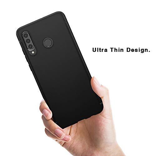 BENNALD Hülle für Huawei P30 Lite Hülle Soft Silikon Schutzhülle Case Cover - Premium TPU Tasche Handyhülle für Huawei P30 Lite (Schwarz,Black) - 6