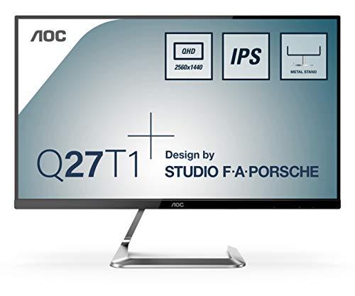 AOC Q27T1 - 27 Zoll QHD Monitor, Porsche Design (2560x1440, 75 Hz, HDMI, DisplayPort) schwarz