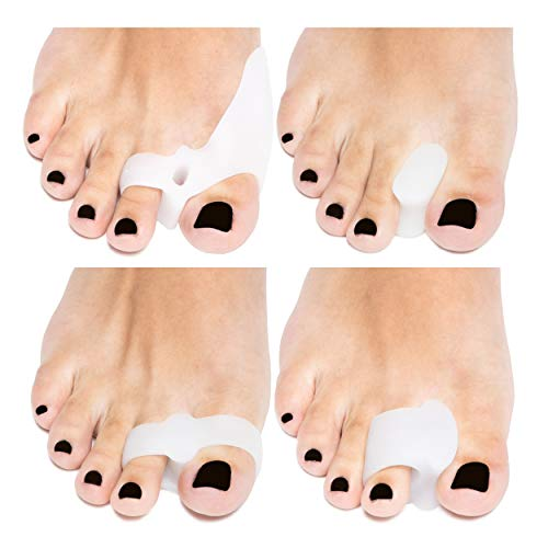 Bunion Corrector Support Kit, Bunion Relief Bunion Splint Soft Gel Toe Separators Spacers Cushions Orthopedic Straighteners Hammer Toe Hallux Valgus Crooked Toe Joint Pain, 4 Products Men Women