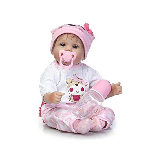NPKDOLL Bebe Reborn Niña Baby Doll 16 Pulgadas 42 cm Silicona Suave Cuerpo de Tela Niño Niña Juguete para niños de 3+ años Bébé Reborn de cumpleaños y Navidad Reborn Silicona sww45c108l
