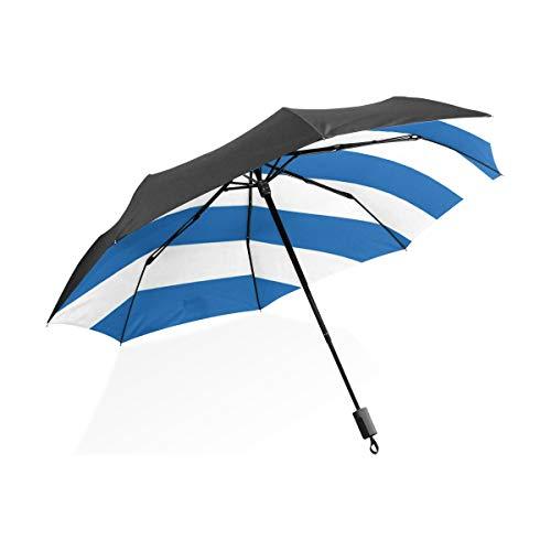FANTAZIO Reise-Regenschirm, Flagge der griechischen Sonne/Regenschirm
