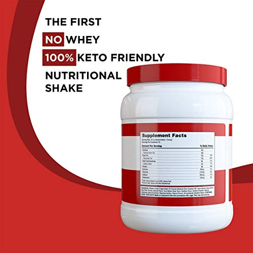 Completely Keto Shake Meal Replacement Powder for Weight Loss - Low Carb Smoothie Mix Alternative to Protein Shakes, Strawberry Flavor 2