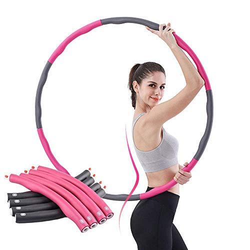 ACPURI Hula Hoop Reifen für Fitnessübungen, Gewichtsverlust schnell durch Spaß, Fettverbrennung, gesundes Modell, abnehmbares und größenverstellbares Design (Durchmesser 95)