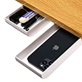 2-Pack Desk Pencil Drawer Organizer, Pop-Up Student Storage Hidden Desktop Drawer Tray, Great for Office School Home Desk (White)
