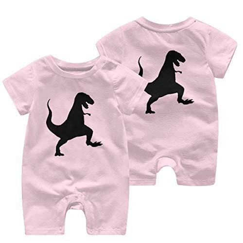 Grijze dinosaurus peuter baby korte mouw Romper Jumpsuit baby Romper Jumpsuit 0-24 maanden