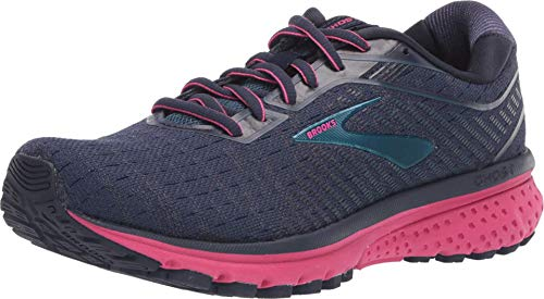 Brooks Womens Ghost 12 Running Shoe - Navy/Majolica/Beetroot - B - 8.0