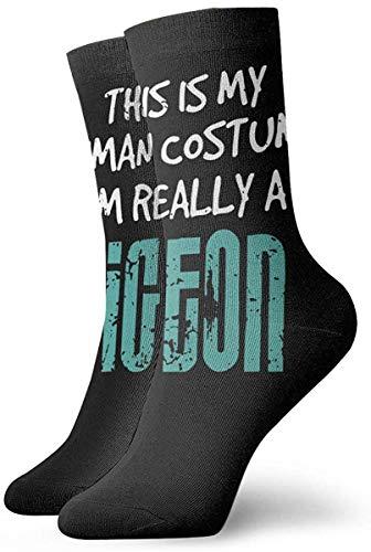 Bernice Winifred Este es mi disfraz humano Realmente soy un pjaro de la paz Calcetines cortos de tripulacin Calcetines de vestir Calcetines deportivos