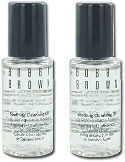 Bobbi Brown Soothing Cleansing Oil, 2 Bottle Set 2* 0.5 Oz = 1 Oz., Travel Size, NEW