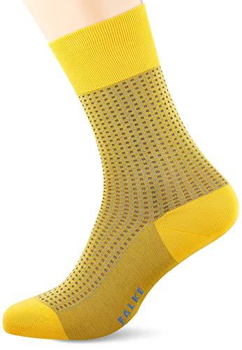 FALKE Herren Socken Uptown Tie, Baumwolle, 1 Paar, Gelb (Sun Ray 1316), 41-42 (UK 7-8 Ι US 8-9)