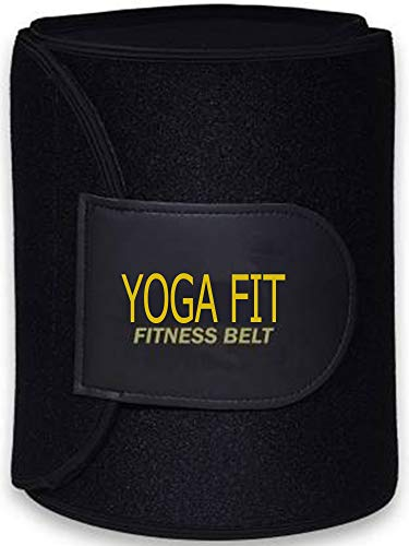 YOGA FIT FITNESS Waist Slimming Neoprene Ab Belt Trainer for Faster Weight Loss Fat Burner Wrap Tummy Control/Belly Tummy Yoga Wrap Exercise Body Slim Look Belt
