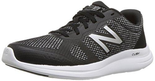 New Balance Women\'s Versi v1 Cushioning Running Shoe, Black/Silver, 5 B US