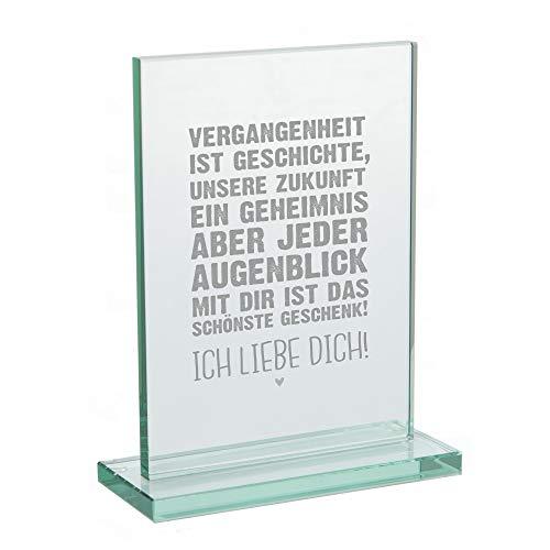4youDesign hochwertiger Glaspokal • Ich Liebe Dich! • Geschenk-Idee zum Valentinstag für sie und für ihn - Valentinstaggeschenk